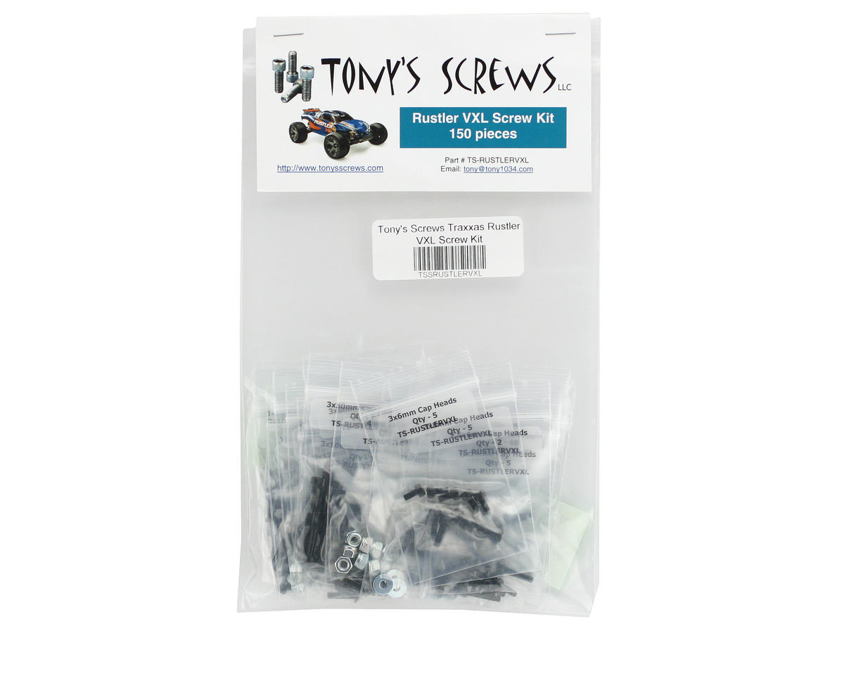 Traxxas Rustler VXL Screw Kit by Tonys Screws