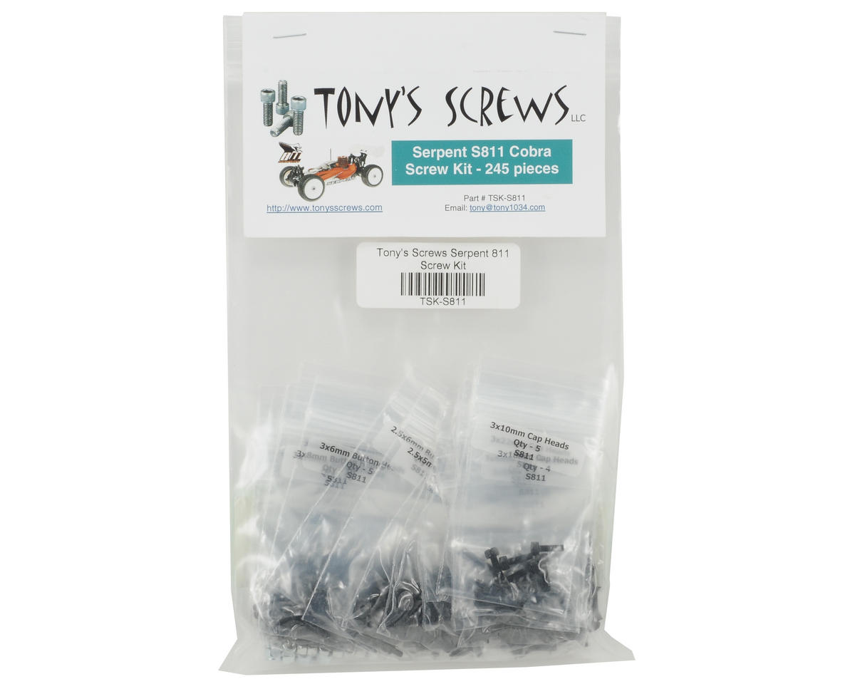 Tonys Screws Serpent S811 Cobra Screw Kit
