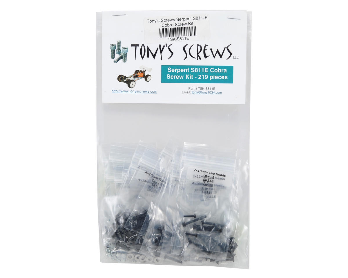 Tonys Screws Serpent S811-E Cobra Screw Kit