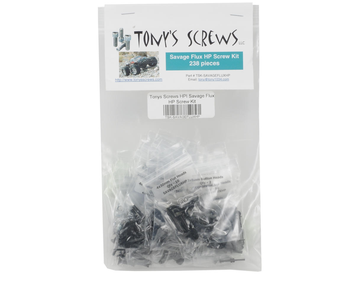 Tonys Screws HPI Racing Savage Flux HP Screw Kit