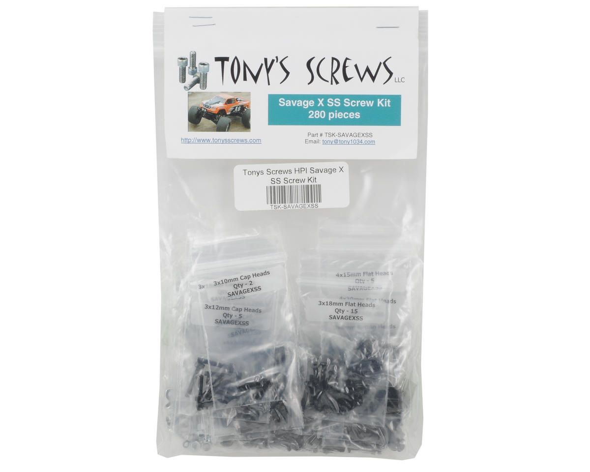 Tonys Screws HPI Savage X SS Screw Kit