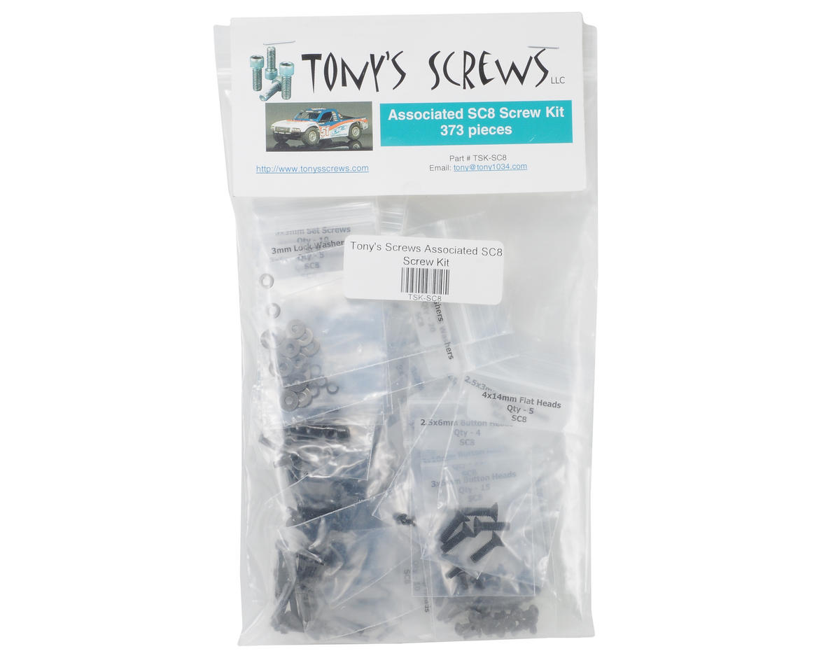 Tonys Screws Team Associated SC8 Screw Kit