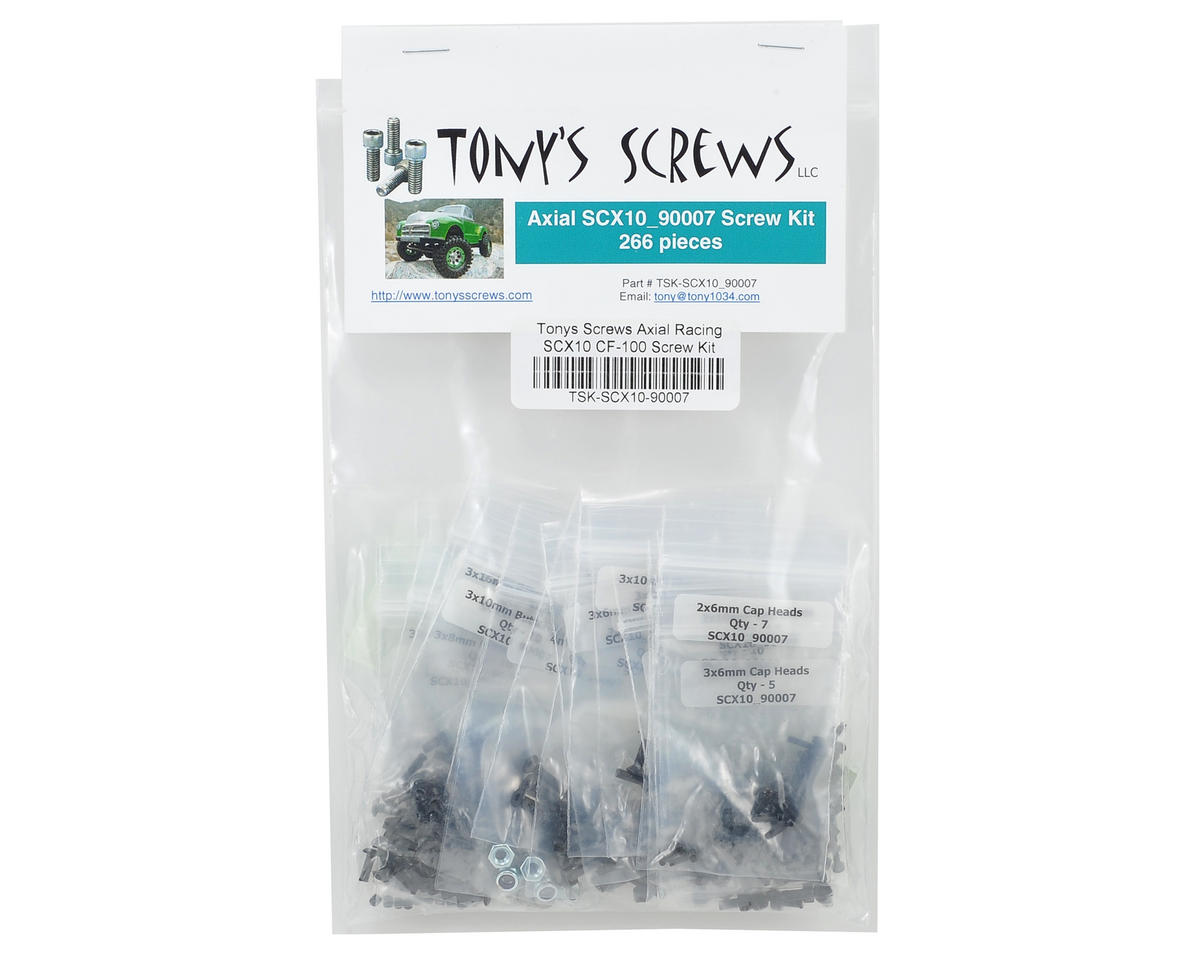 Tonys Screws Axial Racing SCX10 CF-100 Screw Kit