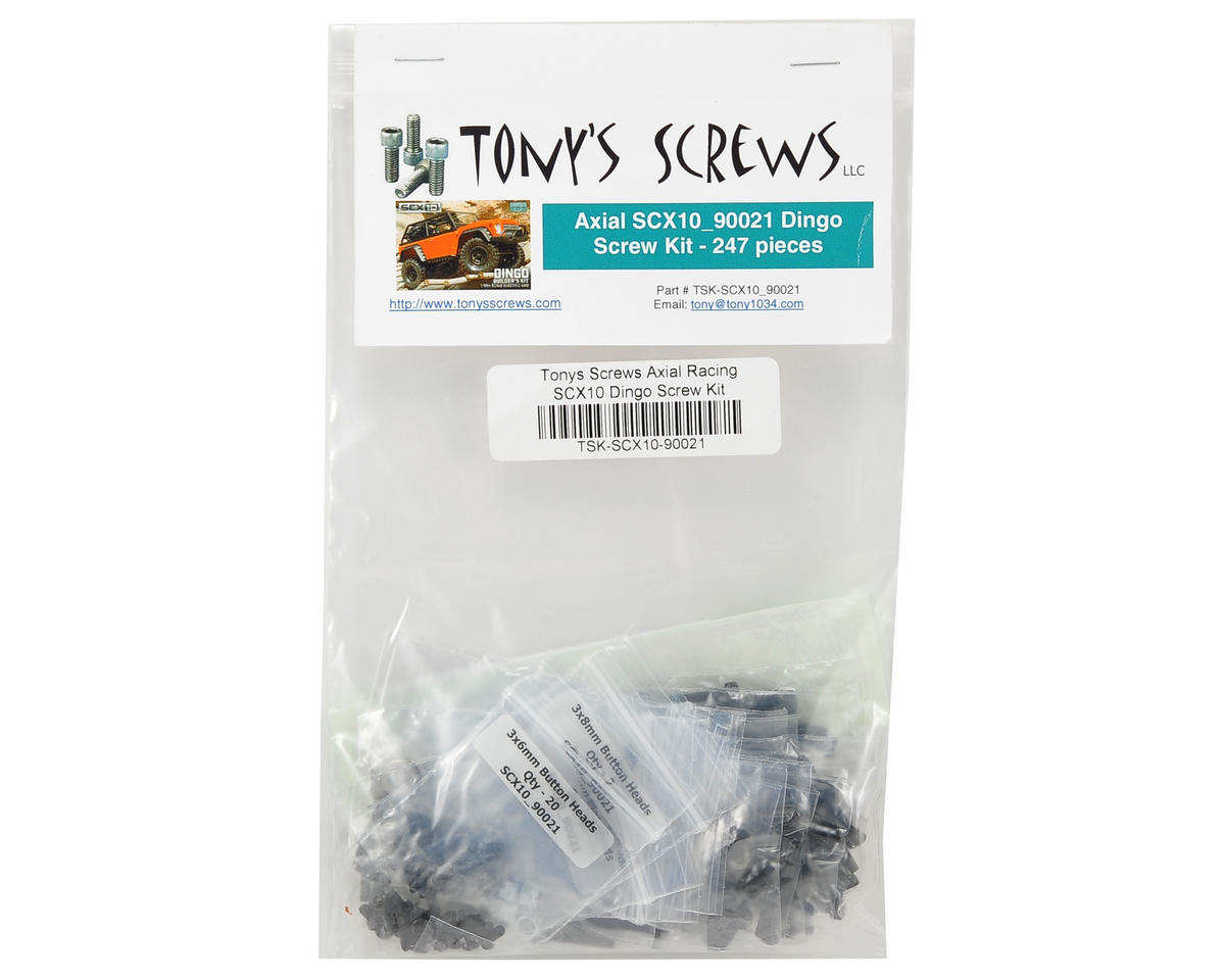 Tonys Screws Axial Racing SCX10 Dingo Screw Kit