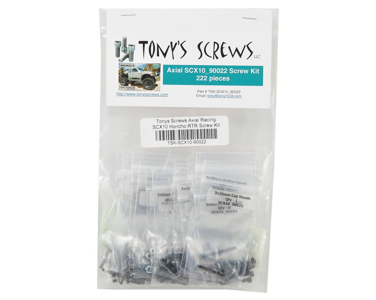 Tonys Screws Axial Racing SCX10 Honcho RTR Screw Kit