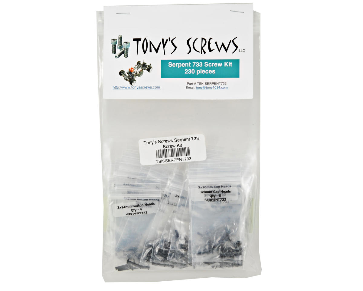 Tonys Screws Serpent 733 Screw Kit