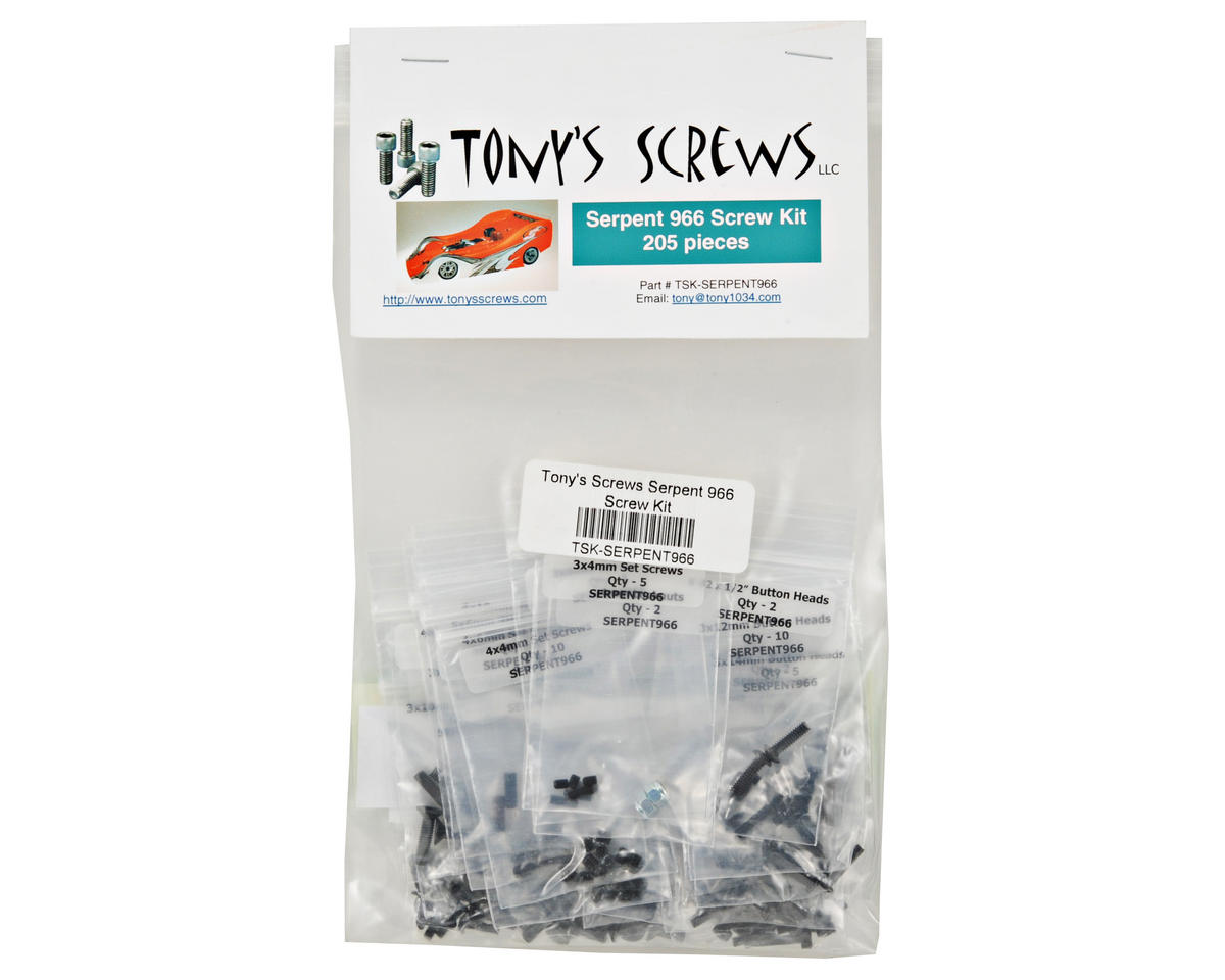 Tonys Screws Serpent 966 Screw Kit