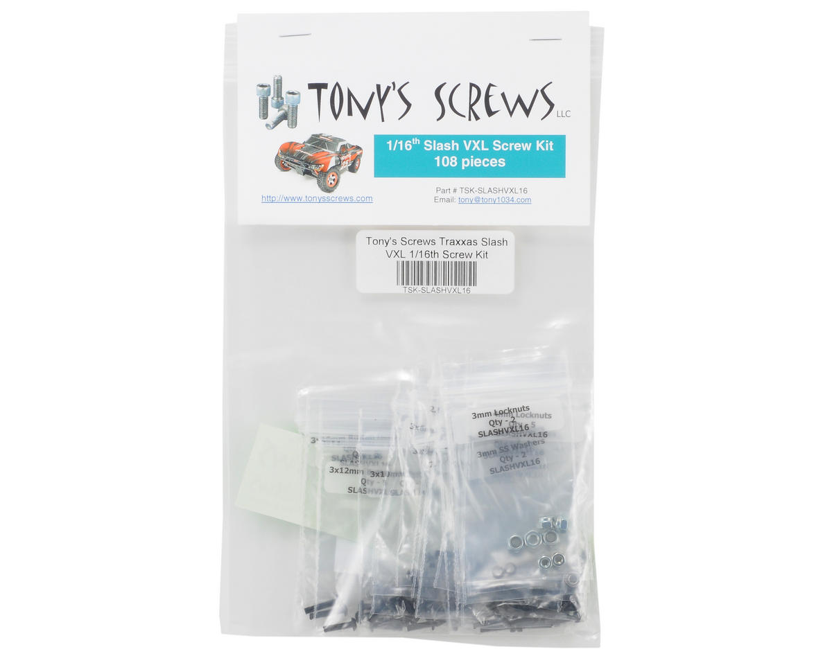Tonys Screws Traxxas Slash VXL 1/16th Screw Kit