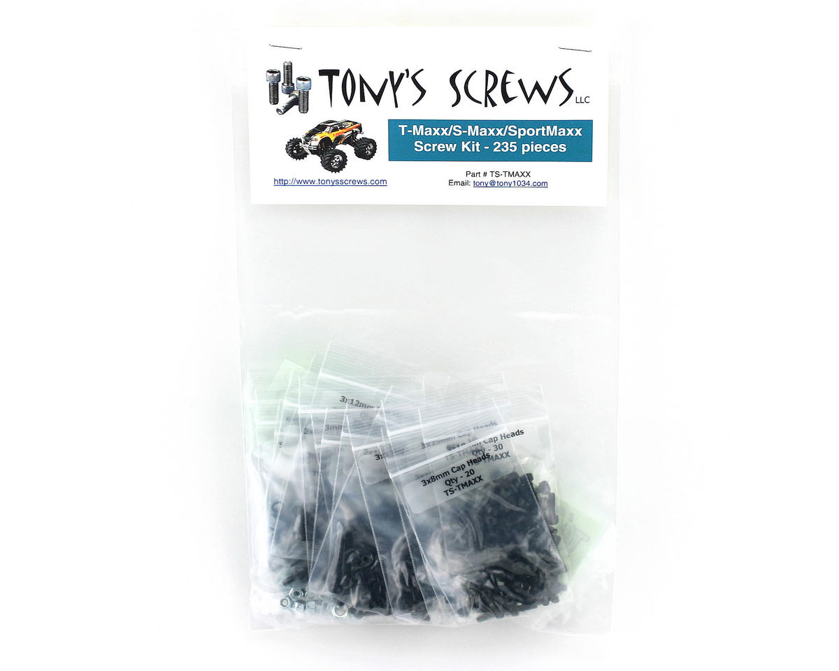 Tonys Screws Traxxas T-Maxx/S-Maxx Screw Kit