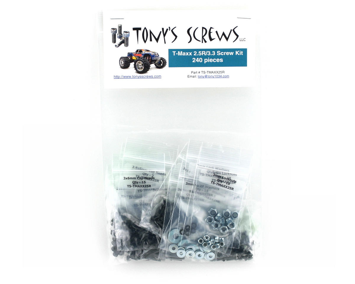 Tonys Screws Traxxas T-Maxx 2.5R/3.3 Screw Kit