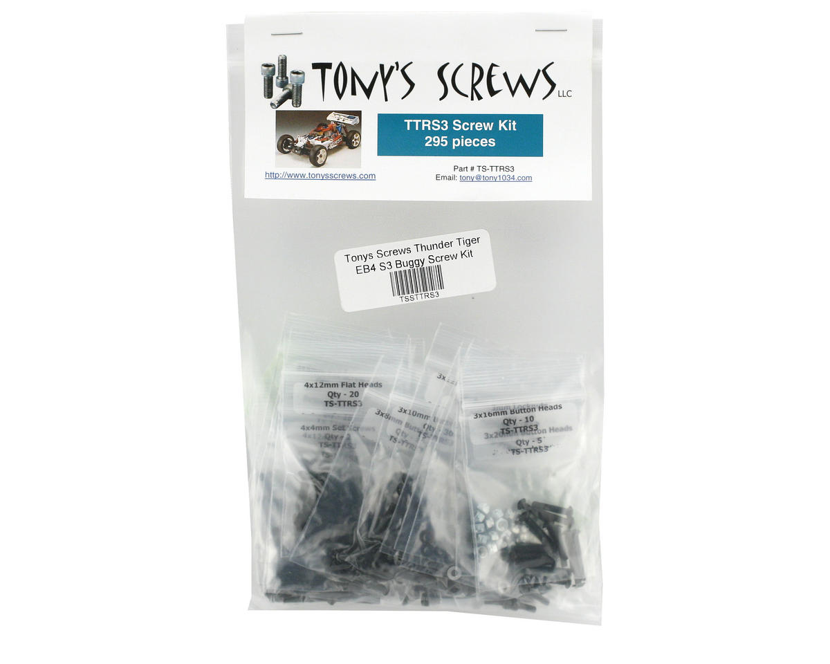 Tonys Screws Thunder Tiger EB4 S3 Buggy Screw Kit