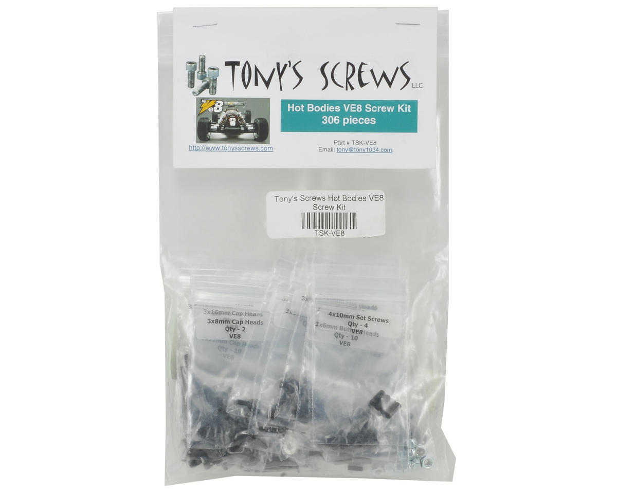Tonys Screws Hot Bodies VE8 Screw Kit