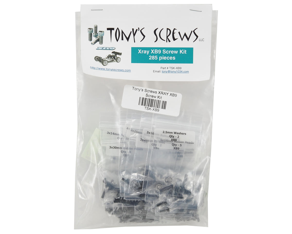 Tonys Screws XRAY XB9 Screw Kit