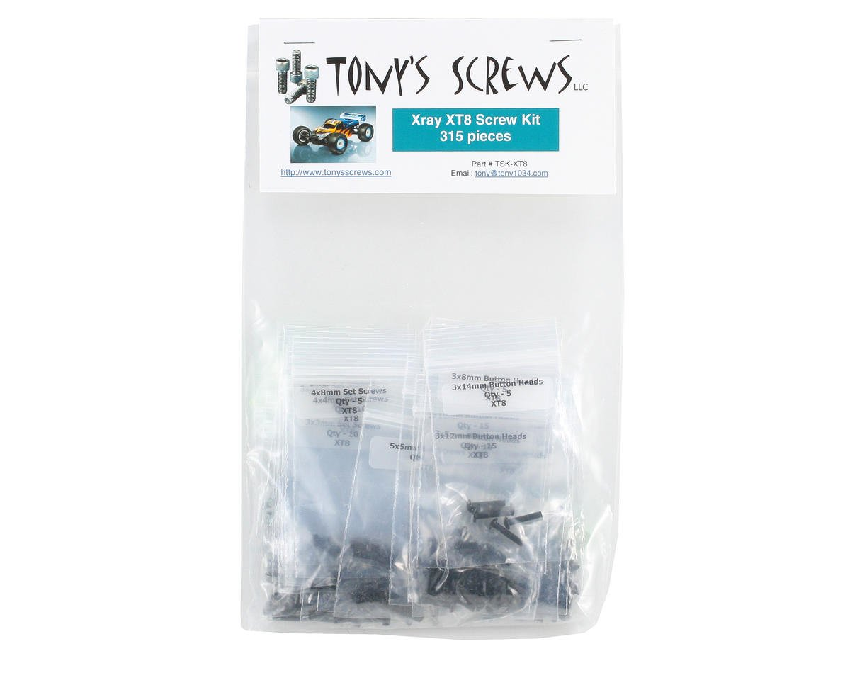 Tonys Screws Xray XB8T Screw Kit