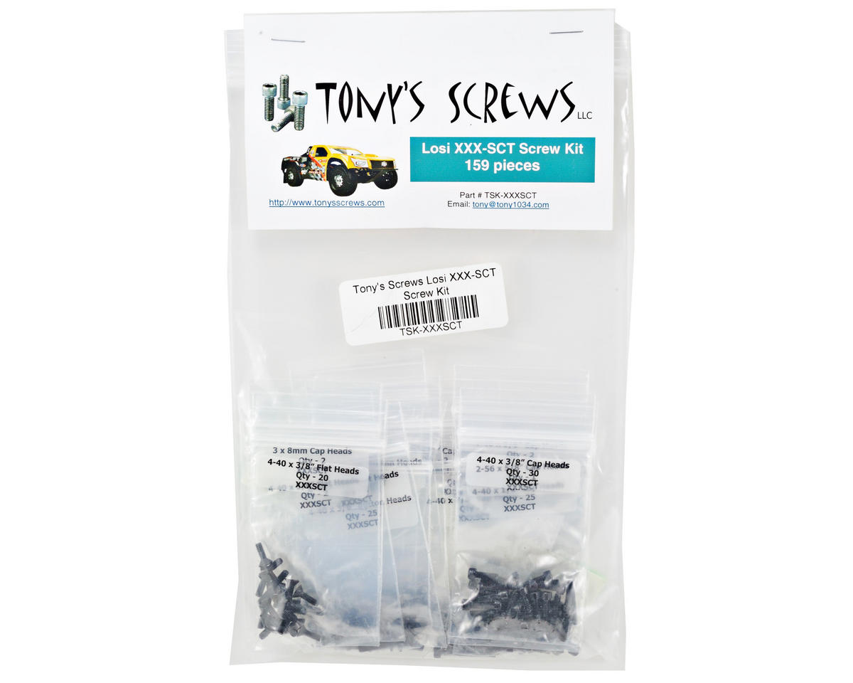 Losi XXX-SCT Screw Kit by Tonys Screws