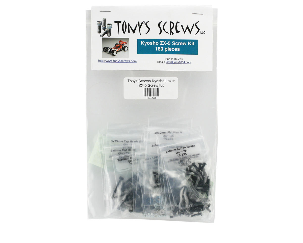 Tonys Screws Kyosho Lazer ZX-5 Screw Kit