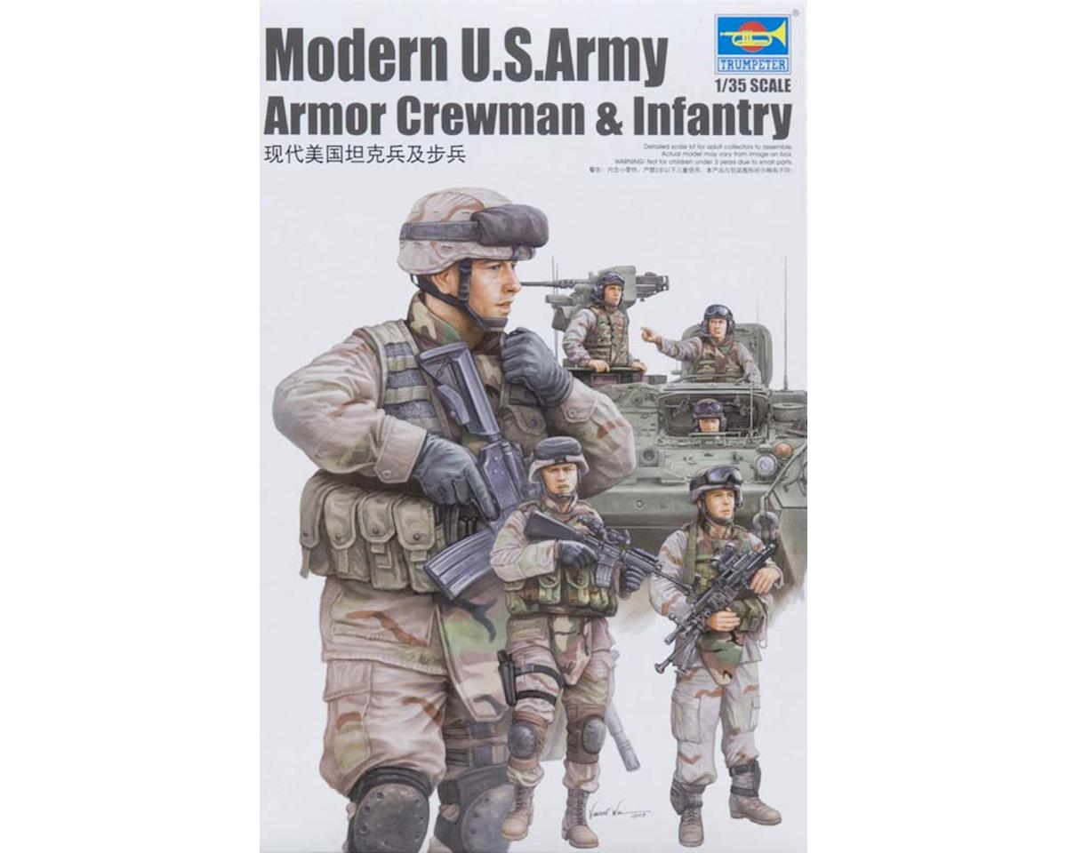 Trumpeter Scale Models 00424 1/35 US Modern Army Crewmen & Infantry Figure Set