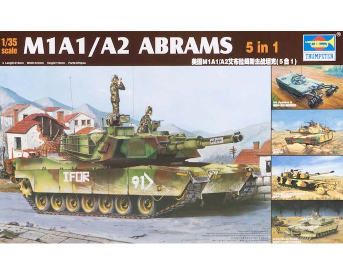 01535 1/35 M1A1/A2 Abrams Tank 5 in 1 Kit by Trumpeter Scale Models