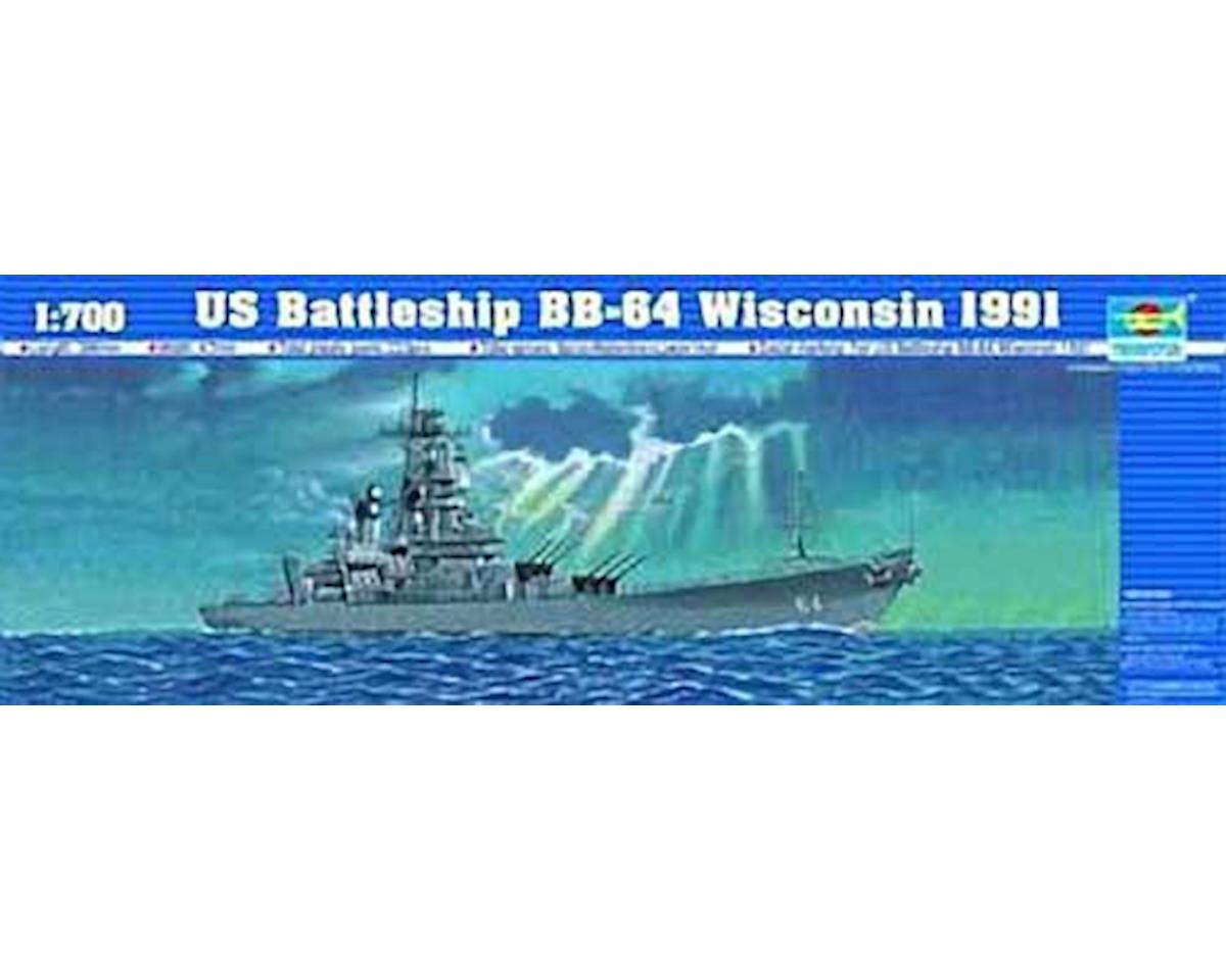05706 1/700 U.S.S. Wisconsin BB64 by Trumpeter Scale Models