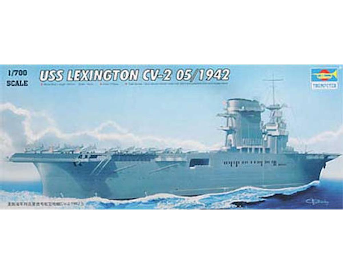 Trumpeter Scale Models 05716 1/700 '42 USS Lexington CV-2 Carrier