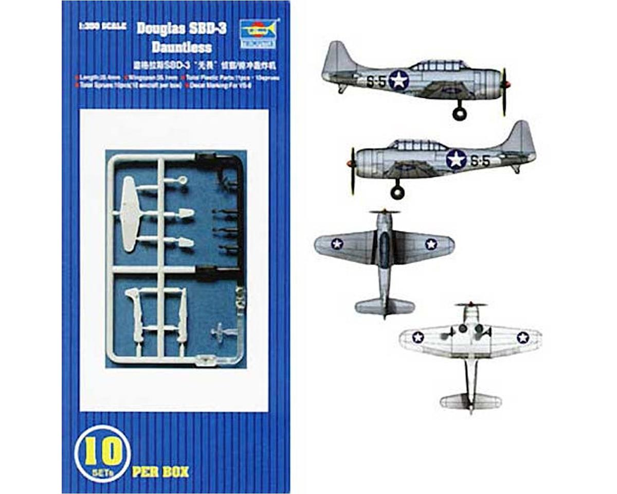 Trumpeter Scale Models 06204 1/350 SBD-3 Dauntless Aircraft Carrier Fleet (10)