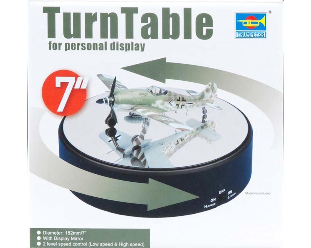 "Trumpeter Scale Models 09835 7"" Battery Op Round Mirrored Turntable"