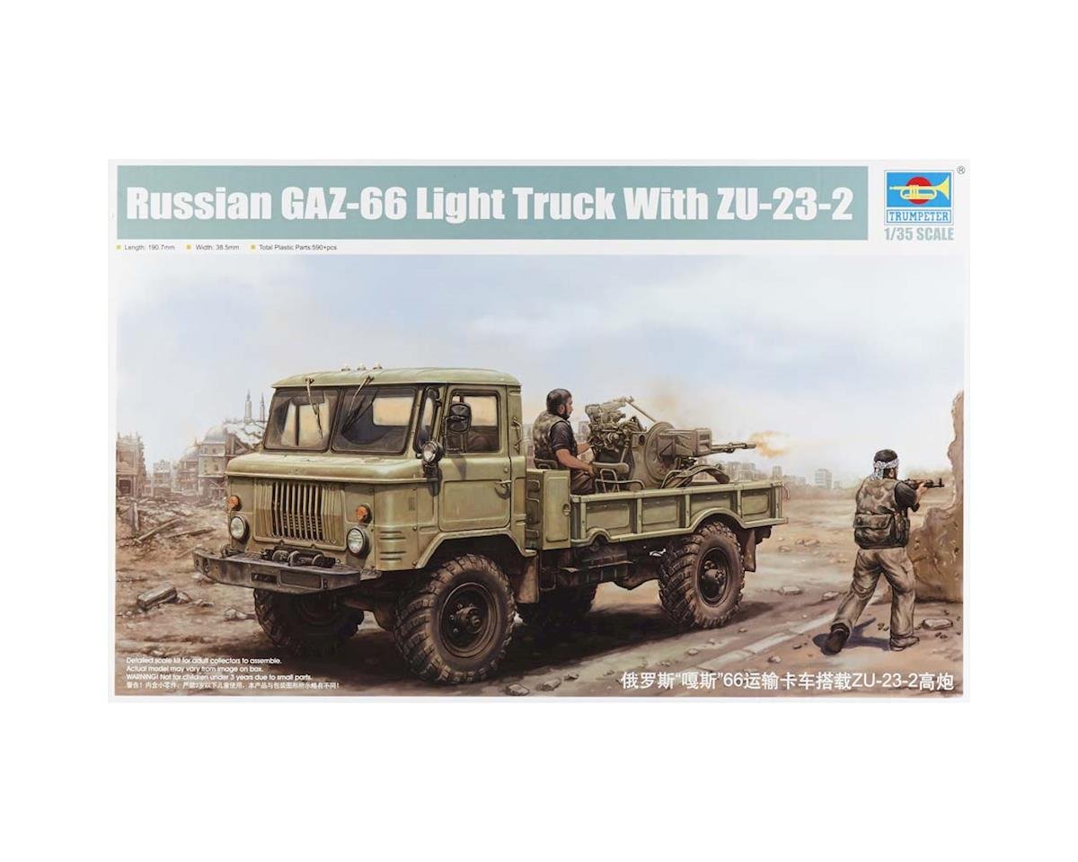 Trumpeter Scale Models 1017 1/35 Russian GAZ66 Light Military Gun Truck