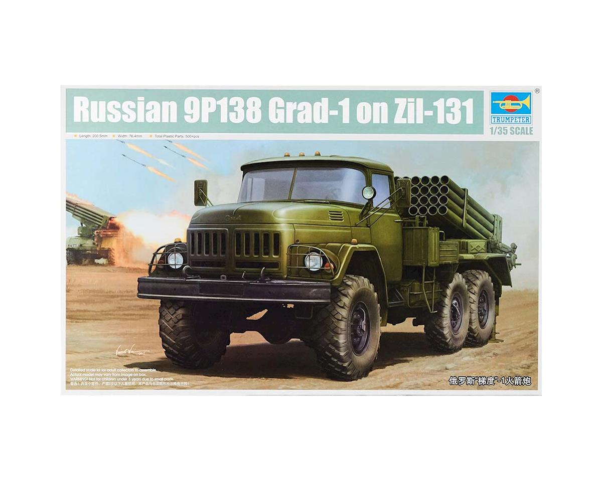 1032 1/35 Russian Zil131 Military Truck w/9P138 Grad-1 by Trumpeter Scale Models