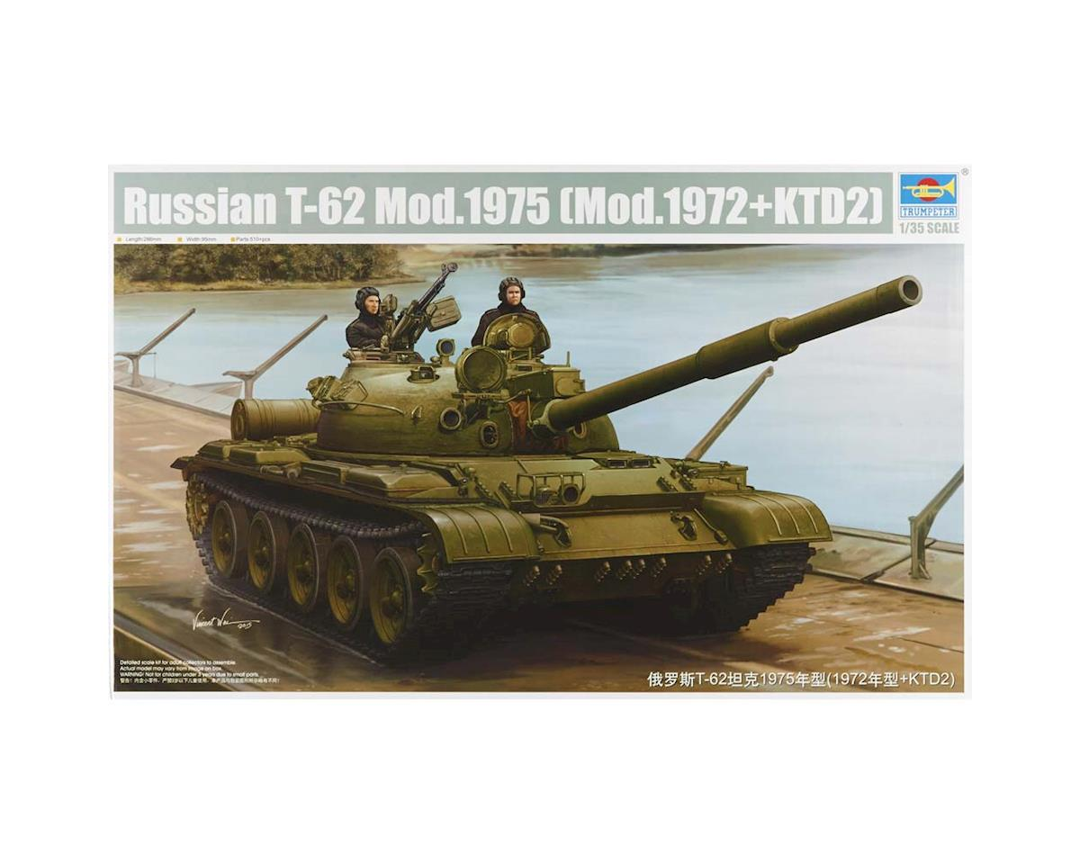 Trumpeter Scale Models 1552 1/35 Russian T-62 Mod 1975 Tank (Mod 1972+KTD2)