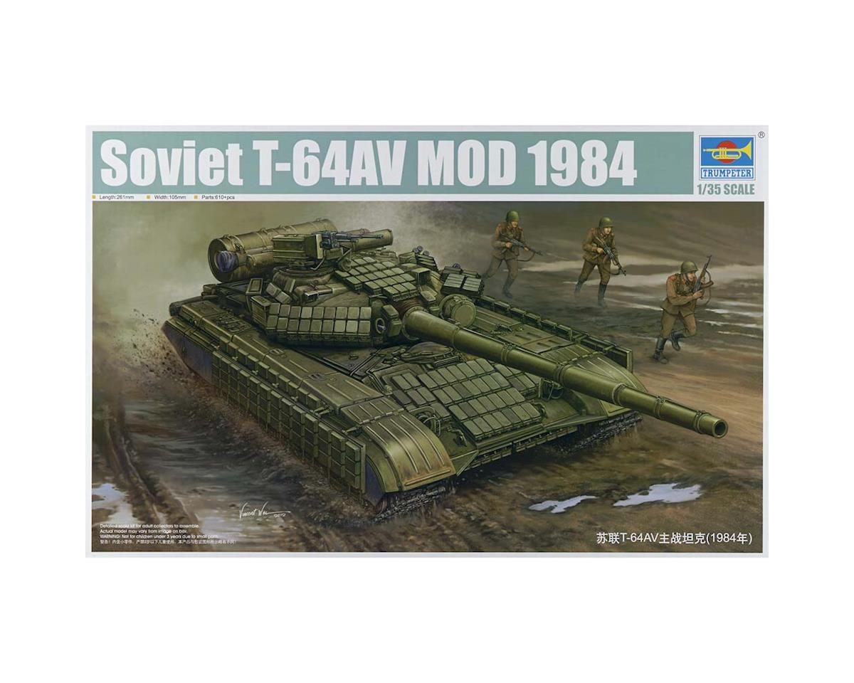 Trumpeter Scale Models 1580 1/35 Soviet T-64AV Mod 1984 Main Battle Tank