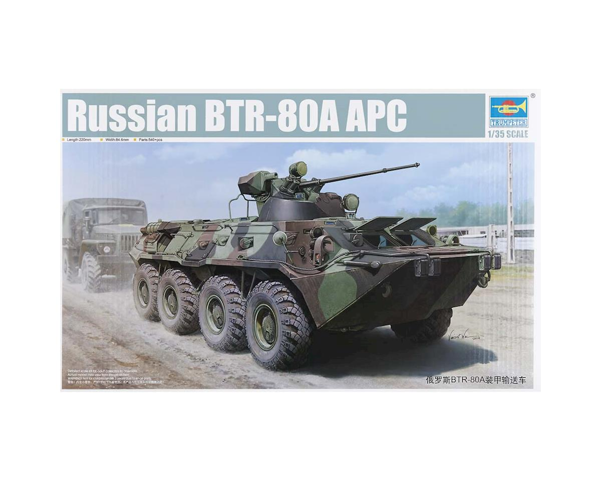 Trumpeter Scale Models 1595 1/35 Russian BTR-80A Armored Personnel Carrier