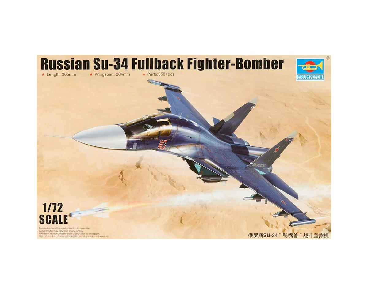 1652 1/72 Russian SU-34 Fullback Fighter/Bomber by Trumpeter Scale Models
