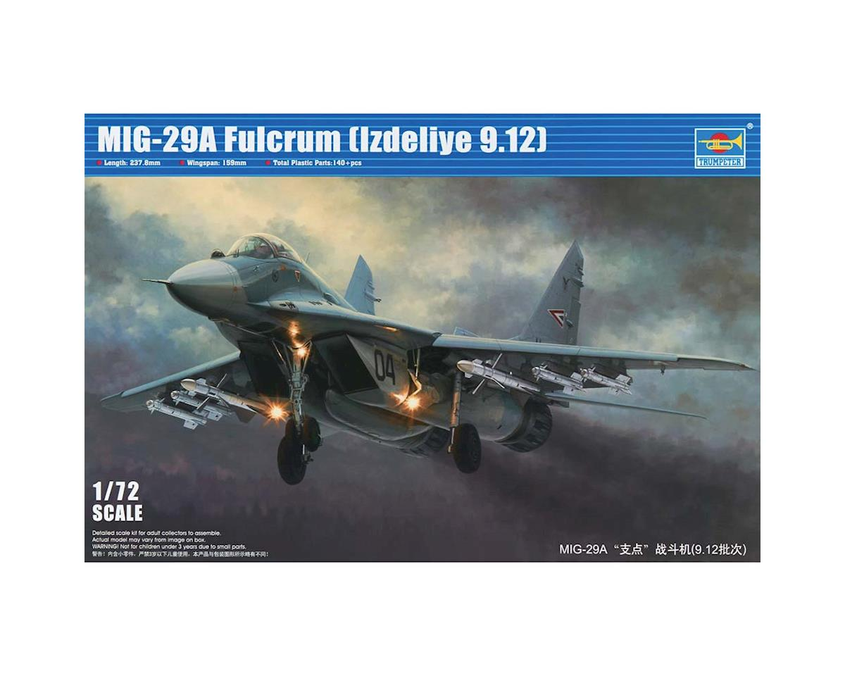 1/72 Mig-29A Fulcrum Product 9.12  Russian Fighter by Trumpeter Scale Models