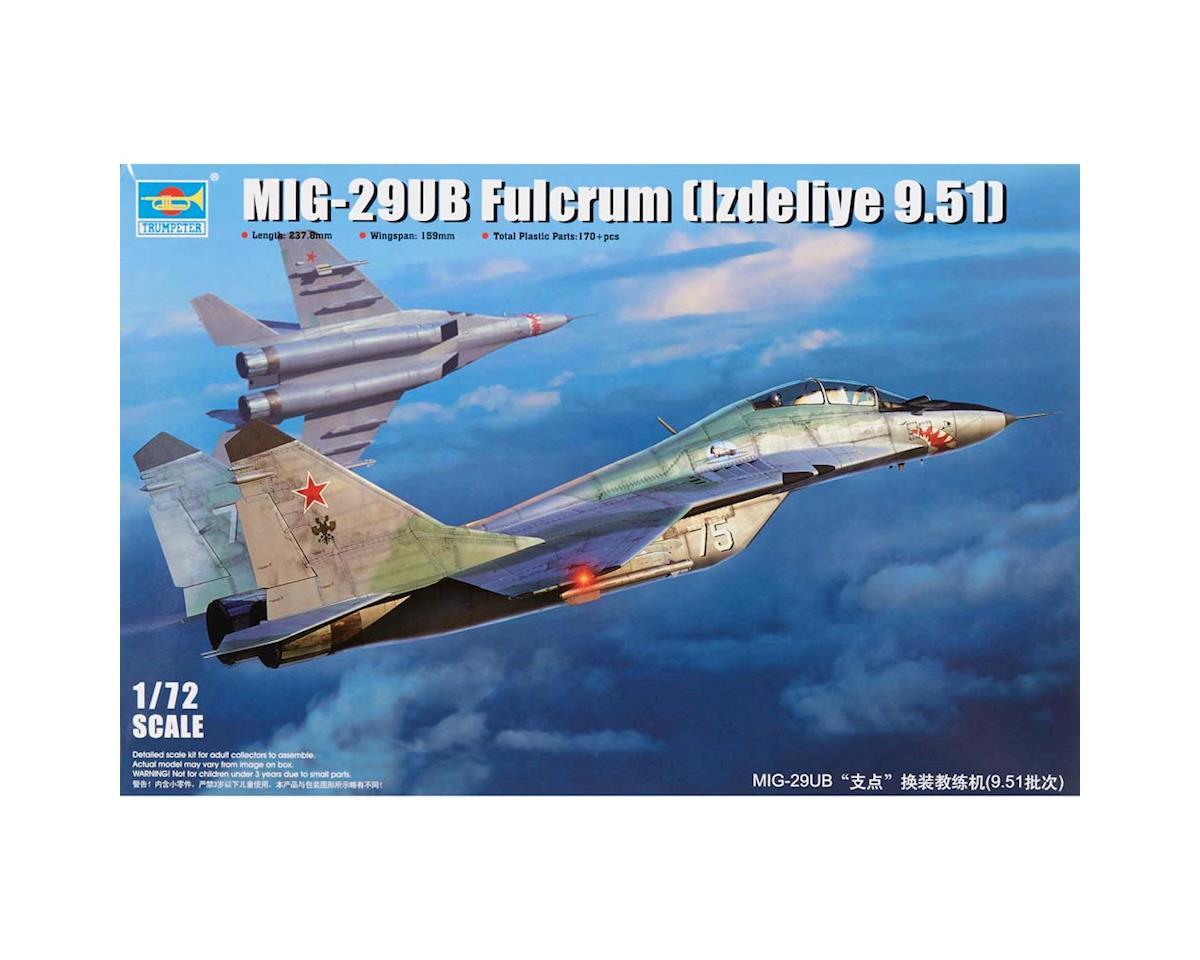 1677 1/72 MiG29UB Fulcrum Product 9.51 Russian Fighter by Trumpeter Scale Models