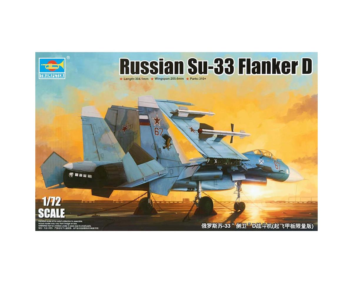 Trumpeter Scale Models 1/72 Sukhoi Su33 Flanker D Russian Fighter