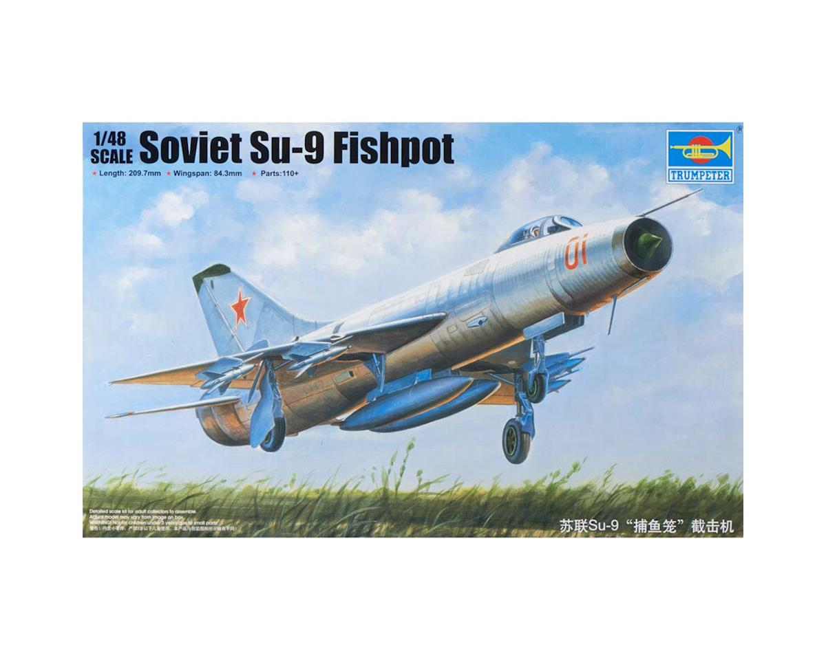 2896 1/48 Soviet Su-9 Fishpot Aircraft by Trumpeter Scale Models