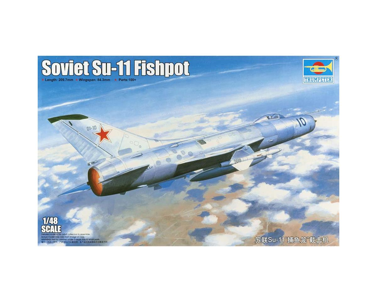 Trumpeter Scale Models 2898 1/48 Soviet Su11 Fishpot Aircraft