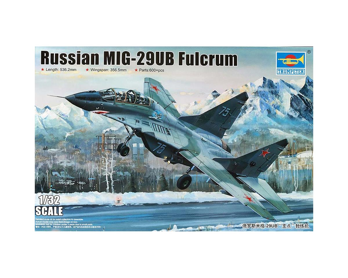 1/32 Mig29UB Fulcrum Russian Fighter by Trumpeter Scale Models