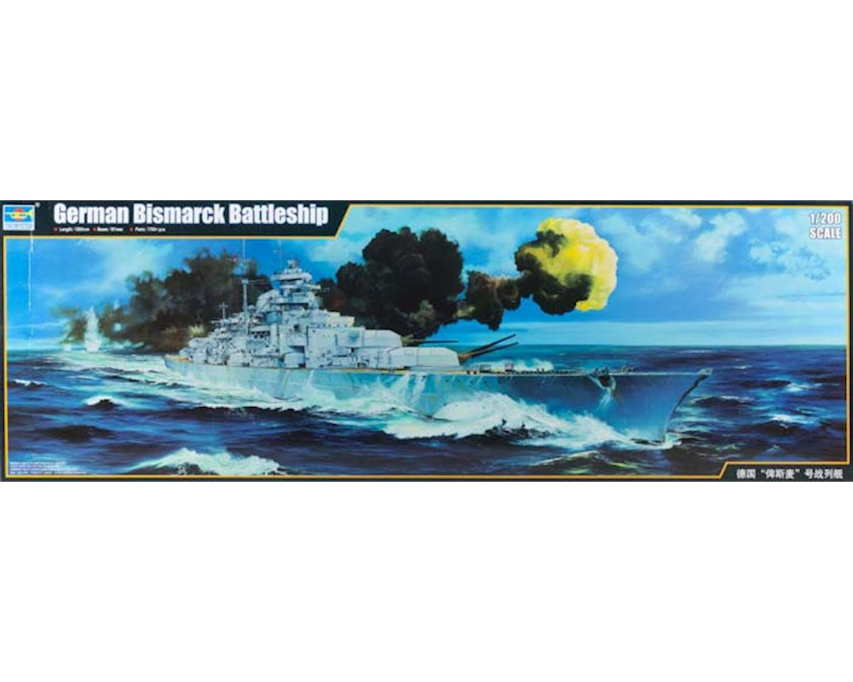 Trumpeter Scale Models 3702 1/200 German Bismarck Battleship 1941