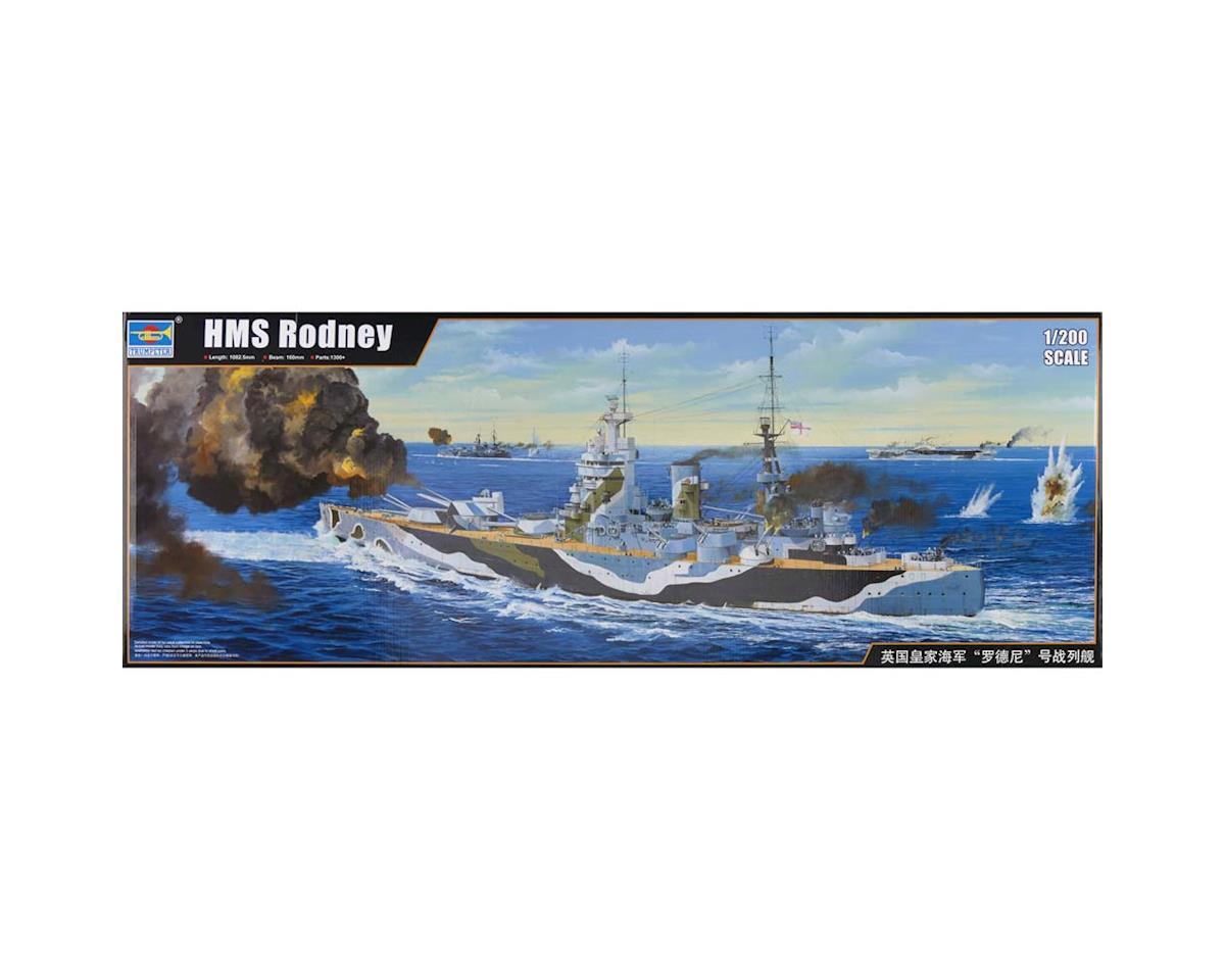 Trumpeter Scale Models 3709 1/200 HMS Rodney British Battleship