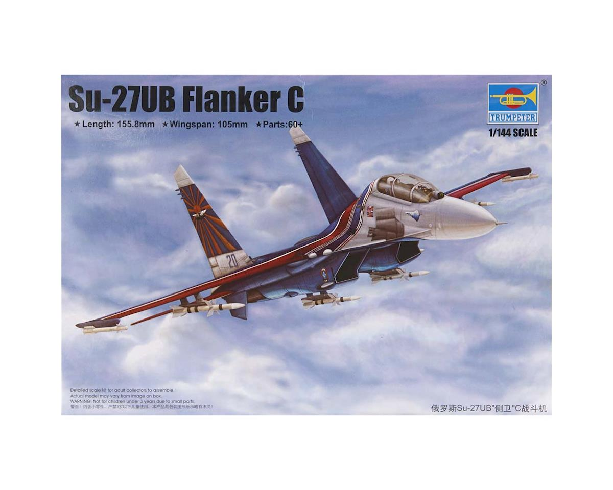 3916 1/144 SU-27UB Flanker C Russian Fighter by Trumpeter Scale Models