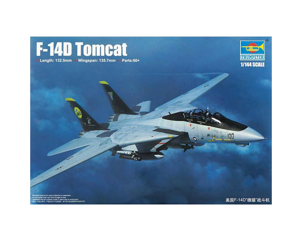 Trumpeter Scale Models 1/144 F14D Tomcat Fighter (New Variant) (JAN)