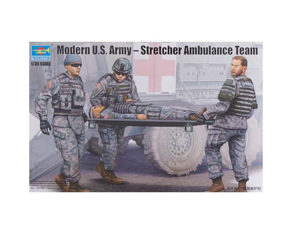 Trumpeter Scale Models 1/35 Modern Us Army Ambulance Team W/Stretcher