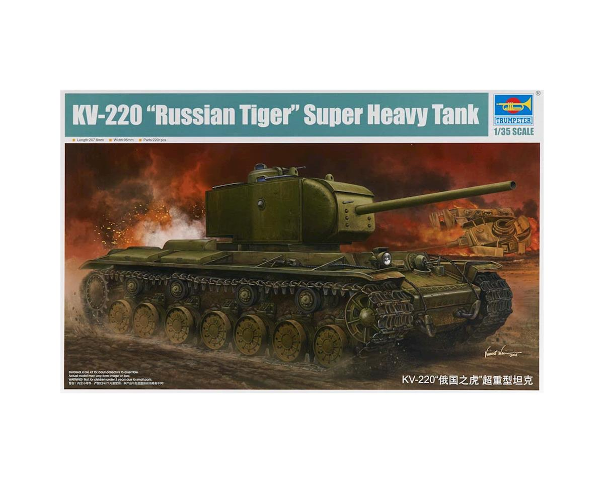 Trumpeter Scale Models 5553 1/35 KV220 Russian Tiger Super Heavy Tank