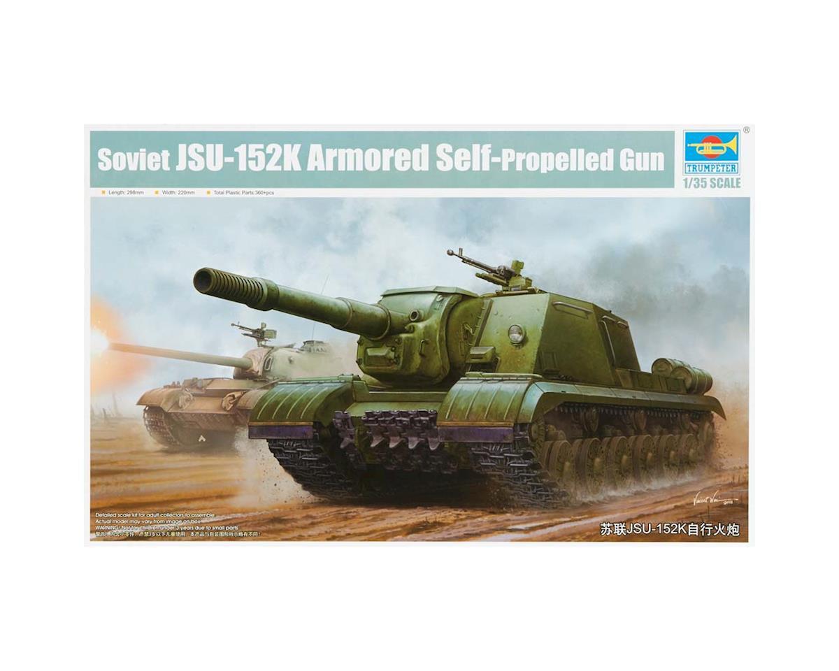 5591 1/35 Soviet JSU152K Armored Self-Propelled Gun by Trumpeter Scale Models