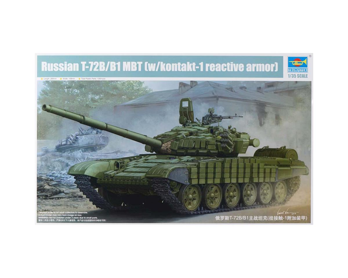 Trumpeter Scale Models 5599 1/35 Russian T-72B/B1 Main Battle Tank w/Armor