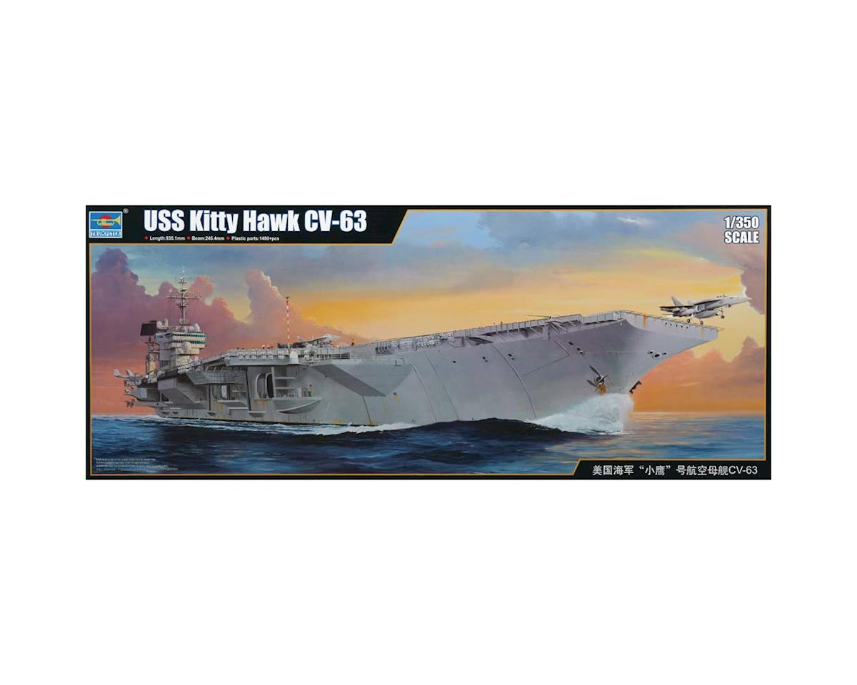 5619 1/350 USS Kitty Hawk CV-63 Aircraft Carrier by Trumpeter Scale Models