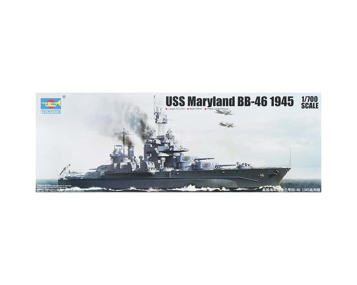 Trumpeter Scale Models 5770 1/700 USS Maryland BB-46 Battleship 1945