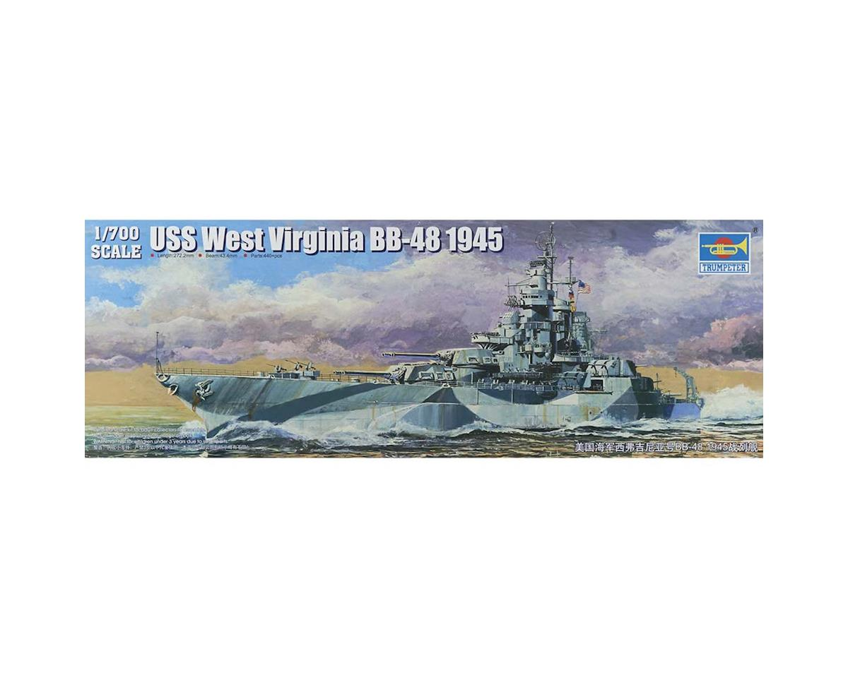 5772 1/700 USS West Virginia BB-48 Battleship 1945 by Trumpeter Scale Models