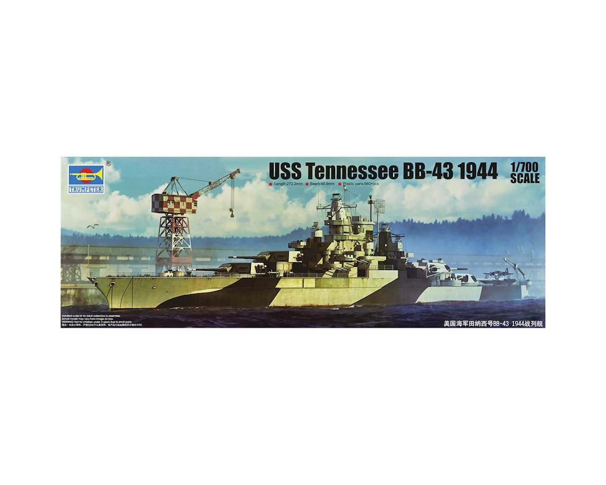 1/700 Uss Tennessee Bb43 Battleship 1944 by Trumpeter Scale Models